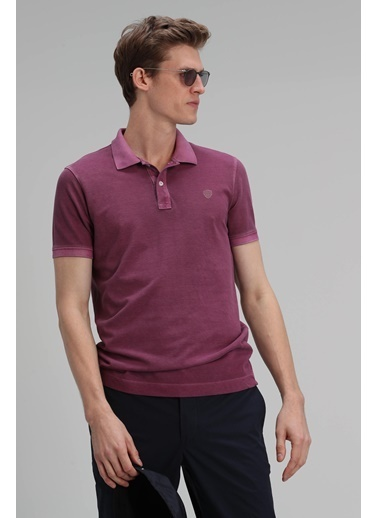 Lufian Vernon Spor Polo T- Shirt Sarı Mürdüm
